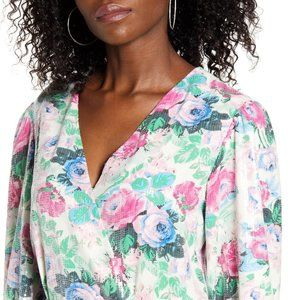 Wayf Dresses - [WAYF] Loretta Floral SequinWrap Dress